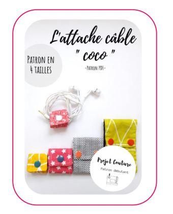 projet couture - patron pdf gratuit attache cable coco