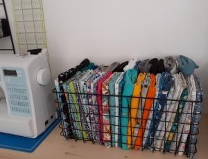 rangement des tissus astuce couture